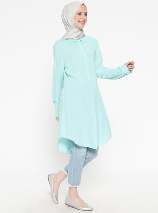 Mint - Point Collar - Viscose - Tunic