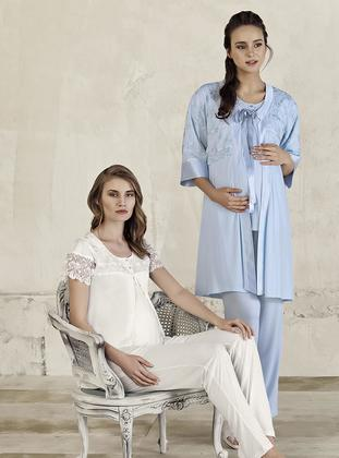 Blue – V Neck Collar – Pyjama – Artis Collection