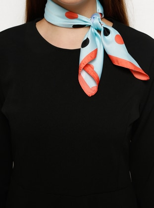 Green - Coral - Printed - Scarf