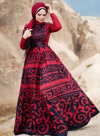 Anar Abiye Elbise - Kırmızı - Muslima Wear