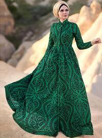 Rayana Abiye Elbise - Yeşil - Muslima Wear