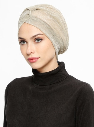 Gold - Plain - Instant Scarf
