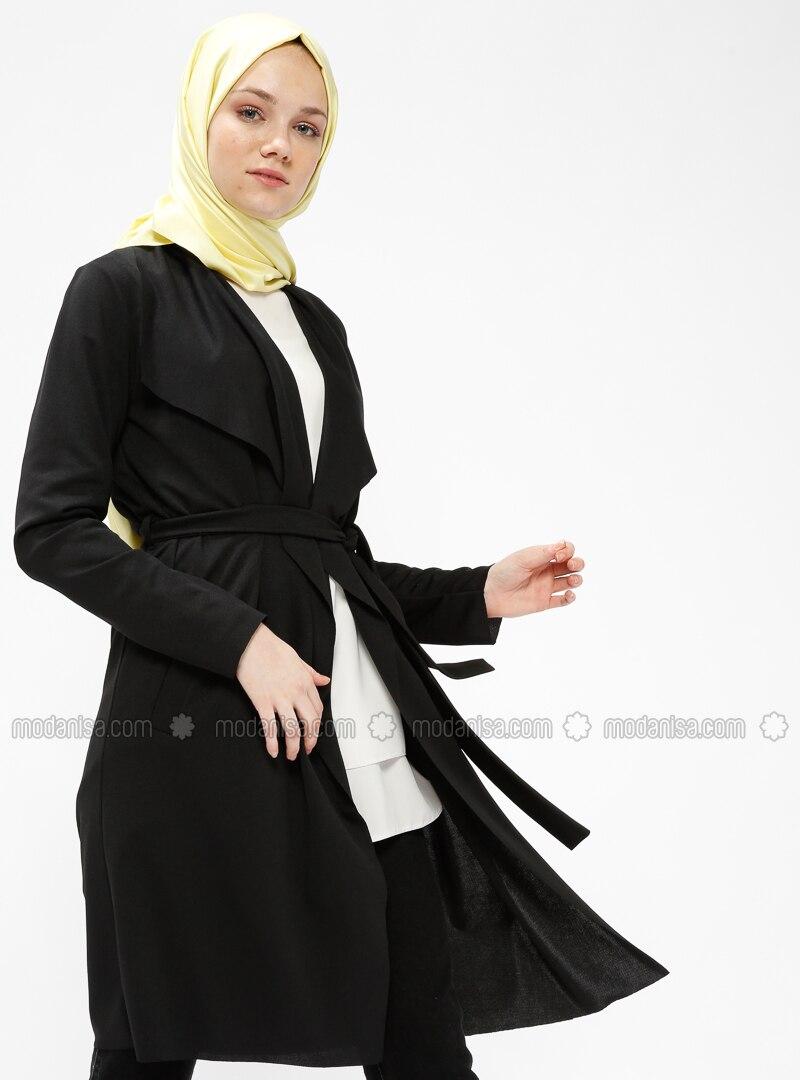 Col Doublé Noir Non Tissu Veste Châle x06gP1wqt
