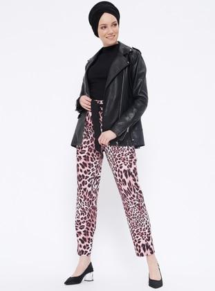 Fuchsia - Leopard - Pants