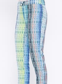 Blue - Multi - Pants