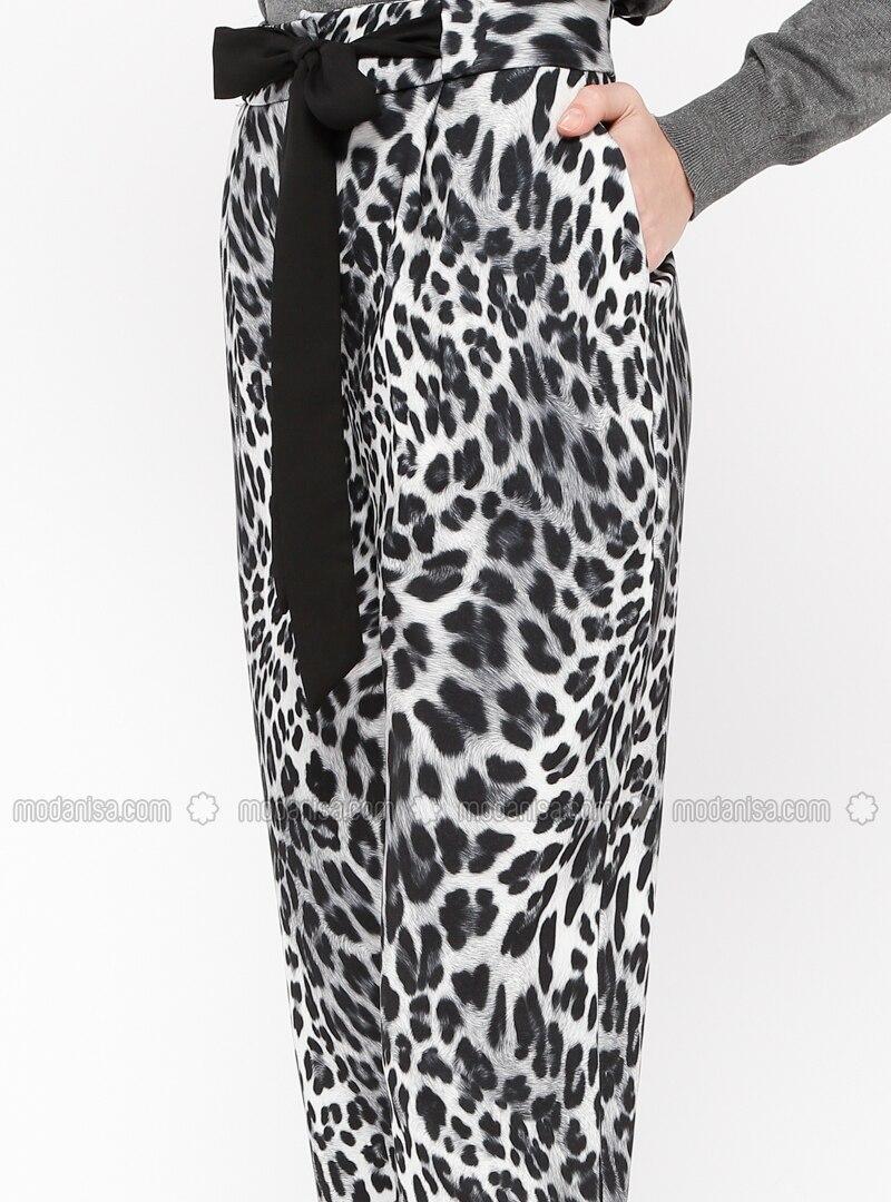 Spielraum begrenzter Stil Rabattgutschein Grau - Leopardenmuster - Hose