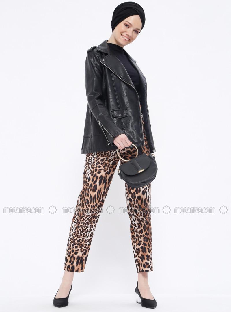 Tan - Leopard - Pants