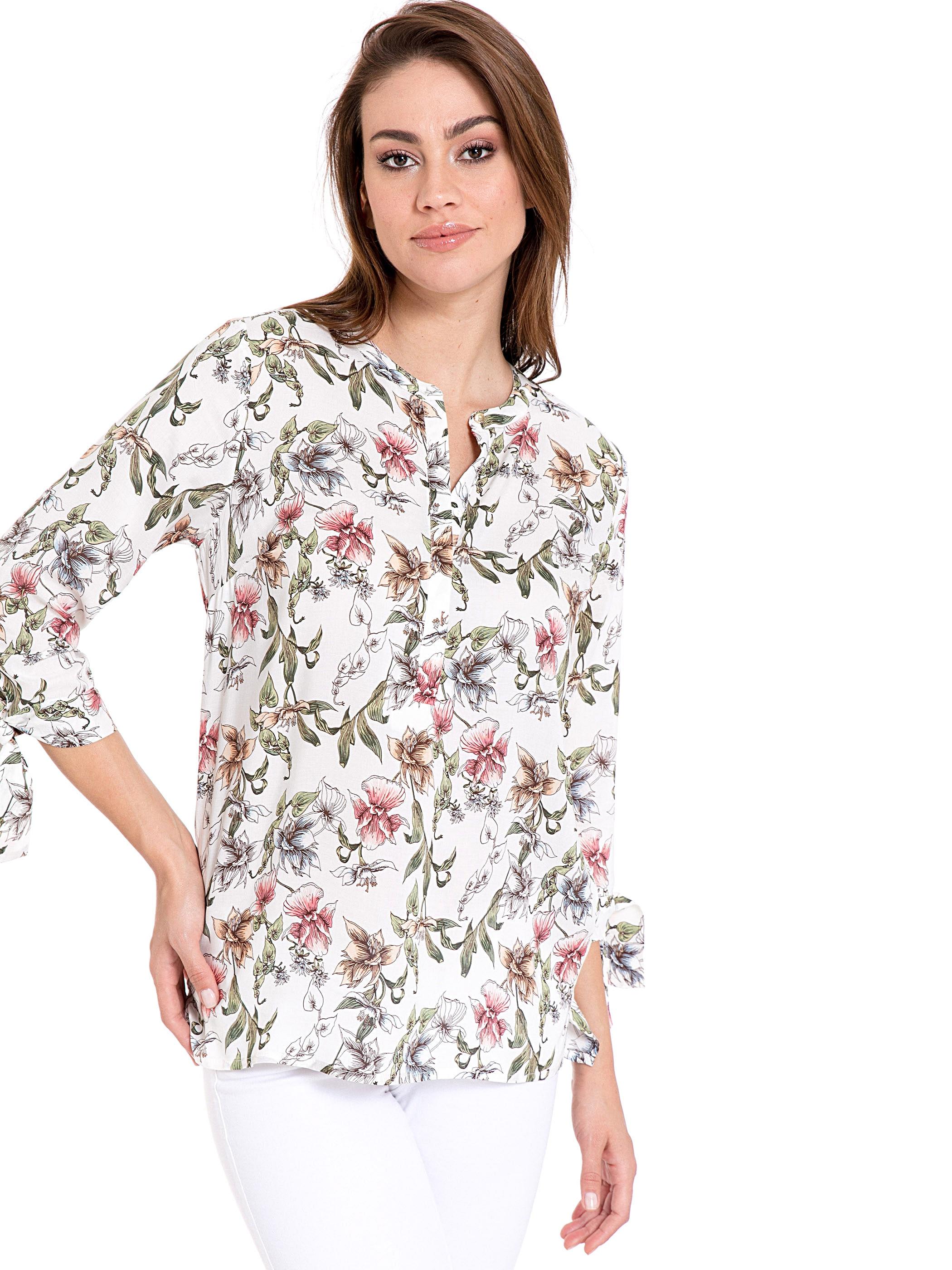 Tesettür Bluz Gömlek LC WAIKIKI Ekru Kadın 36