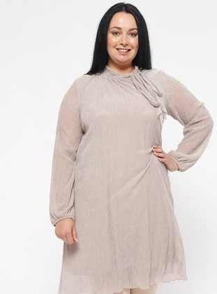 Powder - V neck Collar - Plus Size Tunic
