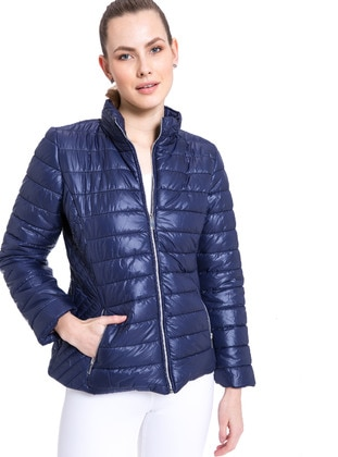 Navy Blue - Puffer Jackets