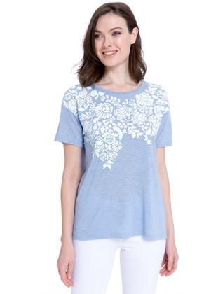Tişört - Mavi - LC WAIKIKI Ürün Resmi