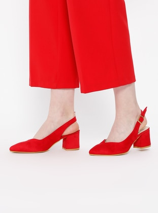 Sitill Topuklu Ayakkabı - Kırmızı