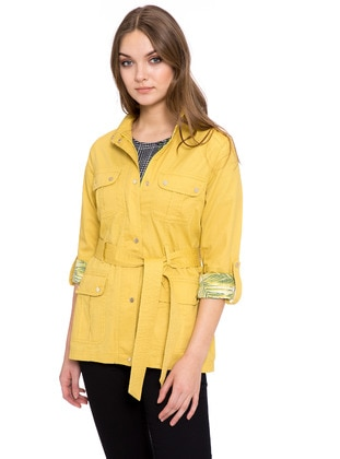 Yellow - Trench Coat