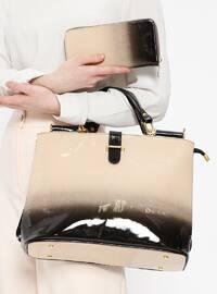Çanta&Cüzdan İkili Takım - Bej Siyah - Sitill