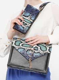 Çanta&Cüzdan İkili Takım - Mavi Siyah - Sitill
