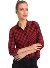 Gömlek - Kırmızı - LC WAIKIKI