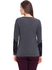 Anthracite - Crew neck - Blouses