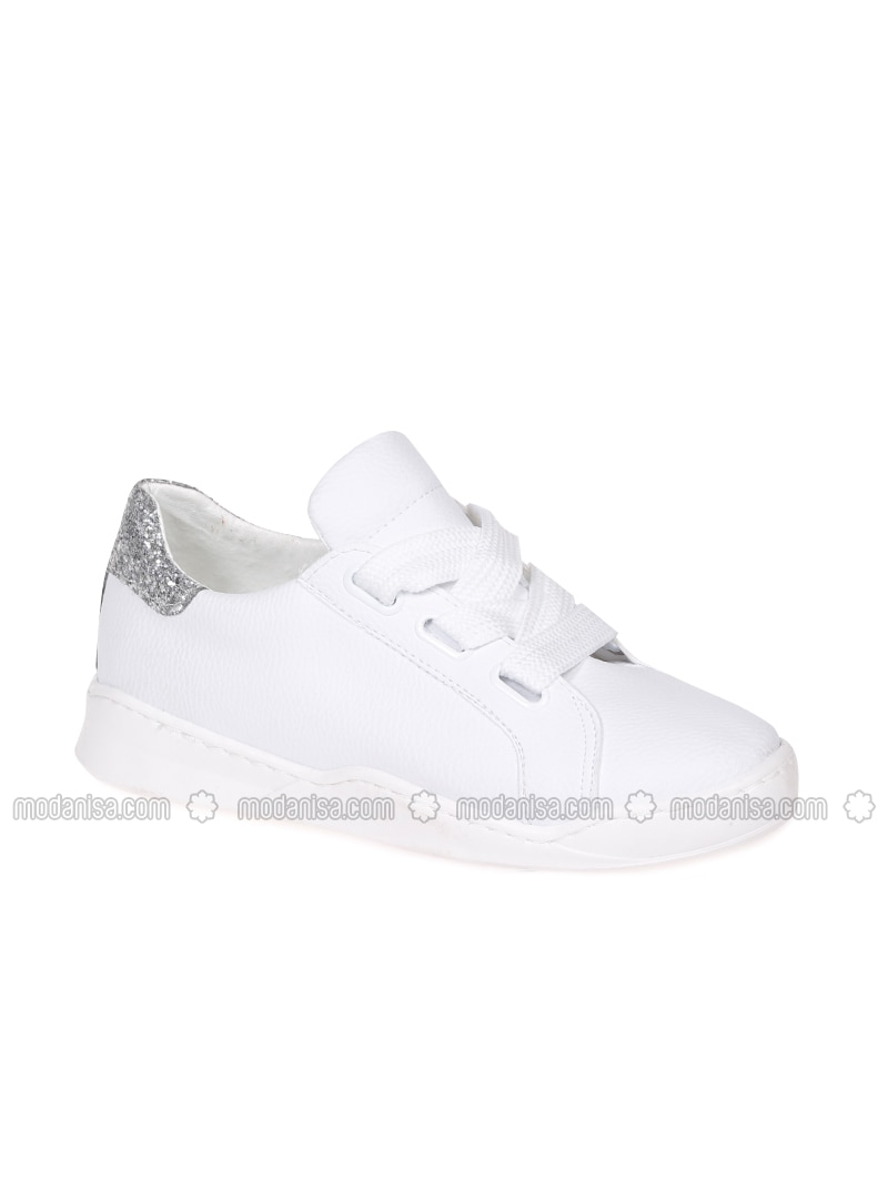 White - Ecru - Sport - Sports Shoes