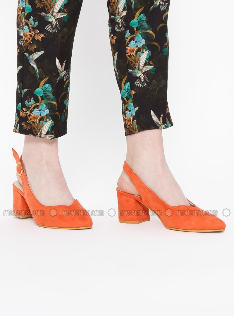 Orange - High Heel - Sandal - Heels