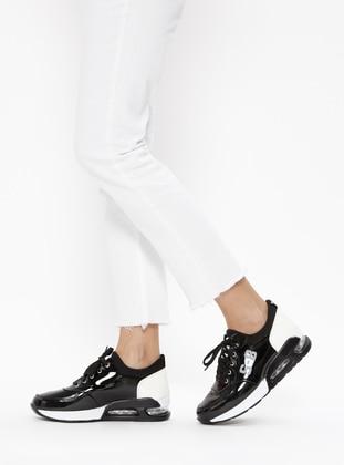 Spenco Spor Ayakkabı - Siyah Beyaz