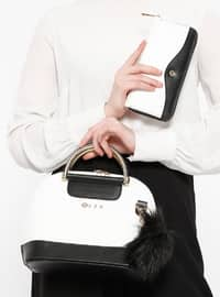 Çanta&Cüzdan İkili Takım - Beyaz Siyah - Sitill
