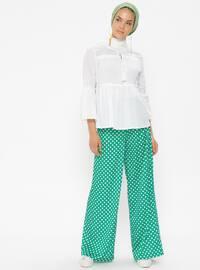 Green - Polka Dot - Pants