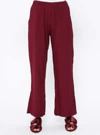 Maroon - Plum - Pants