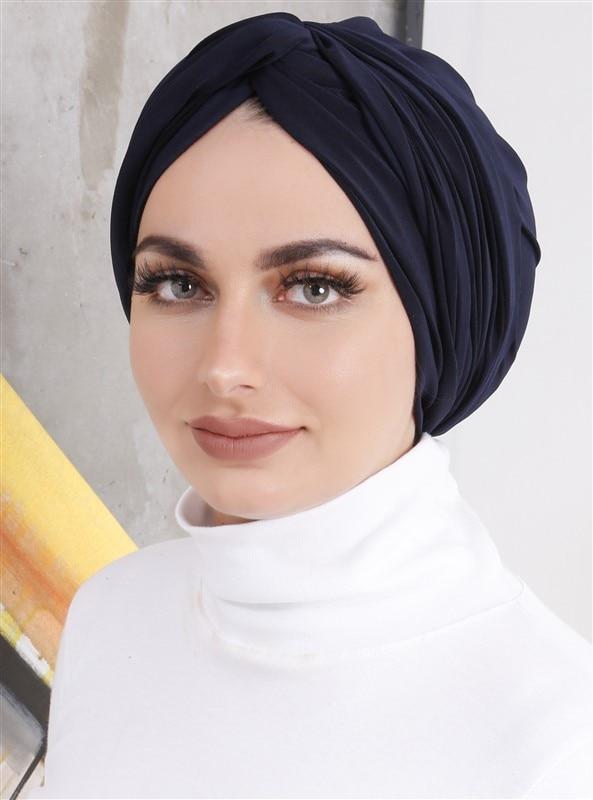 Tesettür Bone DIFFERENZA Lacivert Kadın Standart