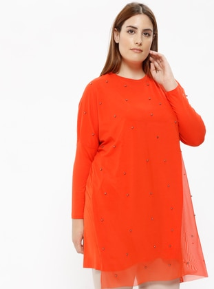 Coral - Crew neck - Plus Size Tunic