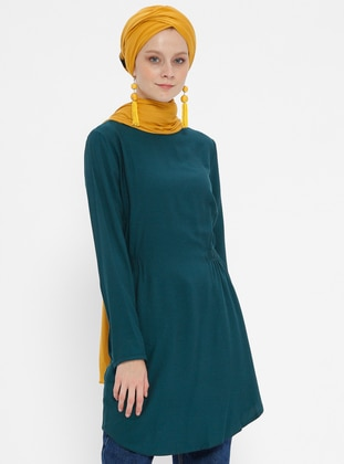 Petrol - Crew neck - Viscose - Tunic