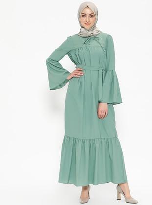 Miss Paye Volan Detaylı Elbise - Mint