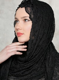 Black - Lace - Shawl
