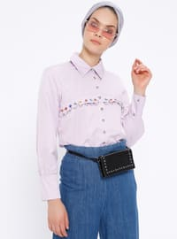 Lilac - Point Collar - Blouses