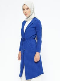 Saxe - Stripe - Unlined - Shawl Collar - Trench Coat