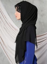 Black - Lace - Shawl