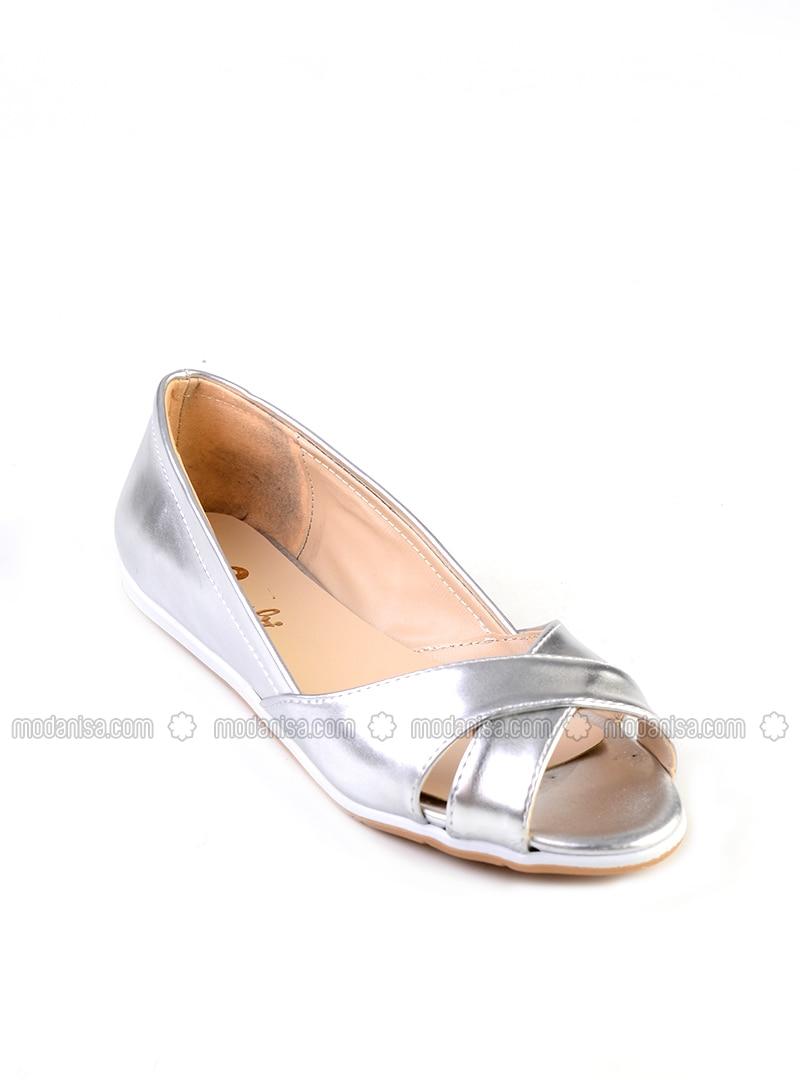 Lamé - Casual - Flat Shoes
