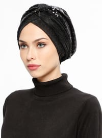 Black - Plain - Instant Scarf