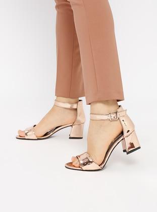 Topuklu Ayakkabı - Rose Nubuk - Pembe Potin Ürün Resmi