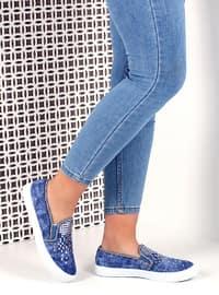 Ayakkabı - Mavi - Pembe Potin