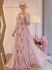 Lal Abiye Elbise - Pudra - Saliha