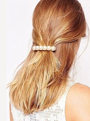Angel Pearls Otomatik Toka - Beyaz - Simplicty