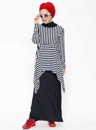 Navy Blue - Stripe - Unlined - Suit