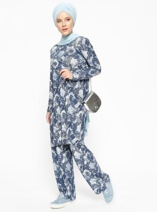 Navy Blue - Stripe - Unlined - Suit - Sexen