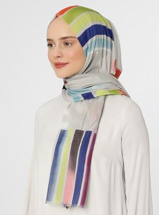 Ecru - Printed - Shawl - Eşarp