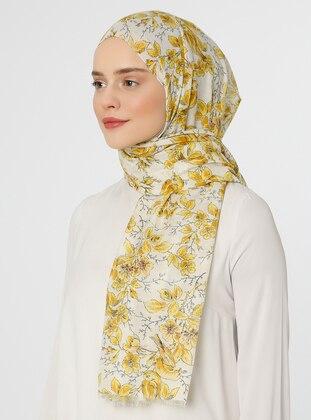 Yellow - Shawl - Argite Eşarp