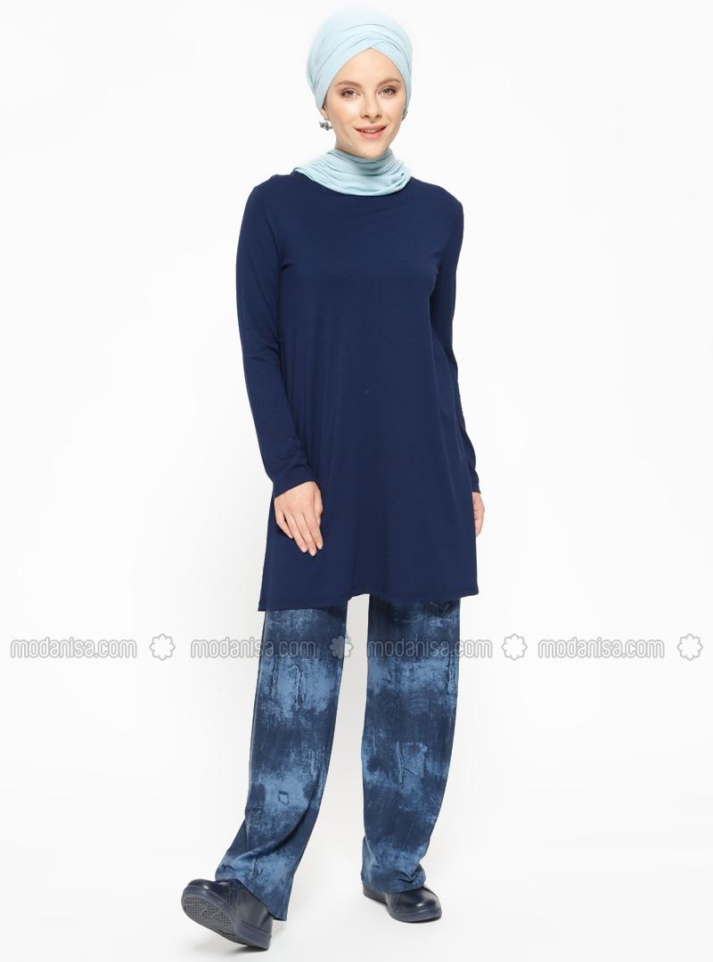 c514f5508d9958 Navy Blue - Stripe - Pants. Fotoğrafı büyütmek için tıklayın
