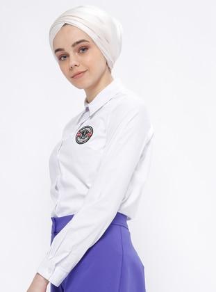 White - Point Collar - Blouses