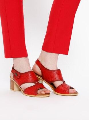 Sandalet - Kırmızı - Pierre Cardin Ürün Resmi