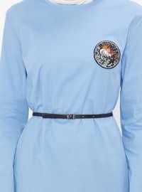 Blue - Crew neck - Tunic