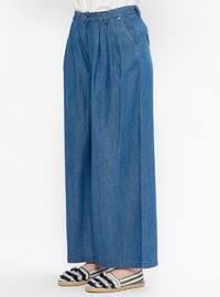 Blue - Denim - Pants